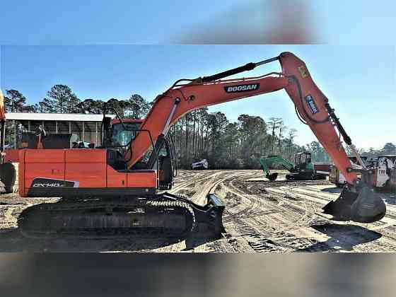 2018 Used Doosan DX140LC-5 Excavator Jacksonville, Florida