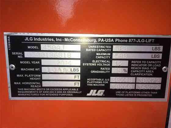 2014 Used JLG 450AJ Boom Lift Pensacola