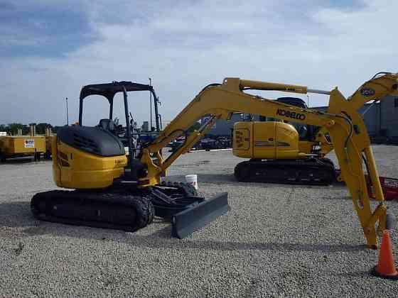 2019 Used KOBELCO SK55SRX-6E Excavator Chicago