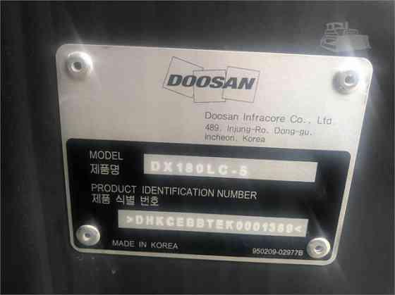 2019 Used DOOSAN DX180 LC-5 Excavator Little Rock
