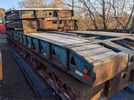 1995 Used TRAIL KING 50 TON Lowboy Trailer WITH PROP DECK AND 56' FLAT DECK Iowa City