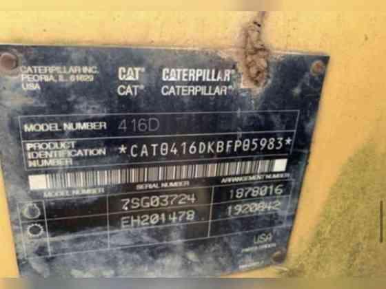 USED 2002 CATERPILLAR 416D BACKHOE Memphis