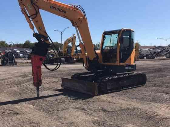 USED 2013 HYUNDAI R80CR-9 Excavator Syracuse, New York