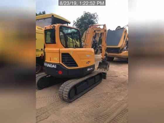 USED 2018 HYUNDAI ROBEX 60CR-9A Excavator Lexington, North Carolina