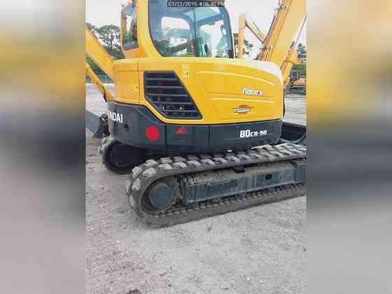 USED 2018 HYUNDAI ROBEX 80CR-9A Excavator Lexington, North Carolina